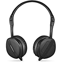LANAU Bluetooth Headset Over Ear,Hi-Fi Stereo Wireless Headphones, Rechargeable, w/ Built-in Mic, Noise Isolating and Hands Free Earphones with Soft Cushion for Sports