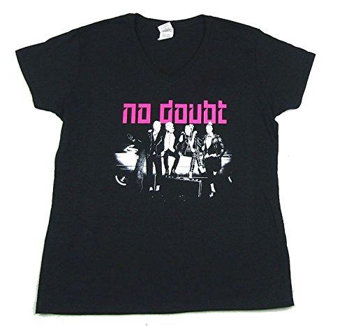 No Doubt Band Pose Ladies Womens V Neck Black T Shirt (L)
