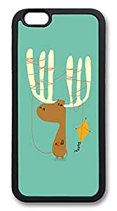 "ICORER Buy iphone 6 plus Case, Moose Kite TPU Case Cover for Apple iPhone 6 Plus with 5.5"" Screen Black"