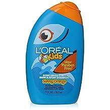 L'Oreal Kids Extra Gentle 2-in-1 Swim & Sport Shampoo, Sunny Orange 9.0 Fluid Ounce by L'Oreal Paris