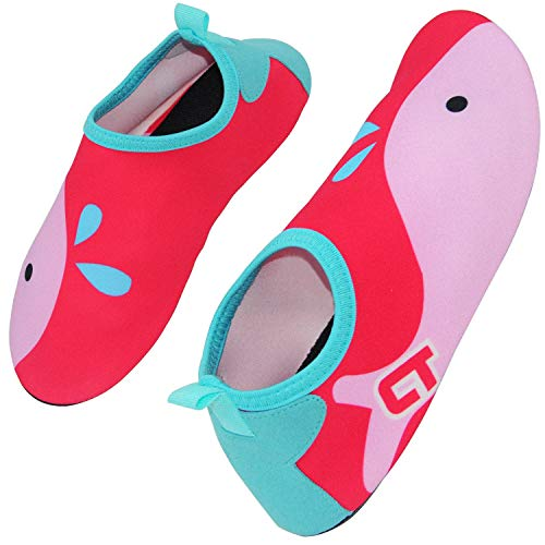 New Kids Water Shoes - SXSTORY Boys and Girls Water Shoes Quick-Dry Non-Slip Aqua Socks Barefoot Shoes for Kids Beach Poor Indoor and Outdoor Activities