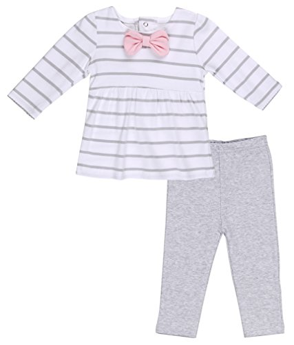 Asher and Olivia Baby Girls' Clothing Set Striped Long-Sleeve T-Shirt and Legging. Size 12-18 Month