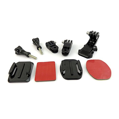 TOOGOO 9 in 1 Helmet Front Side Quick Clip Mount Kit GoPro Hero 6 5 4 3 2 Session by TOOGOO (Image #9)