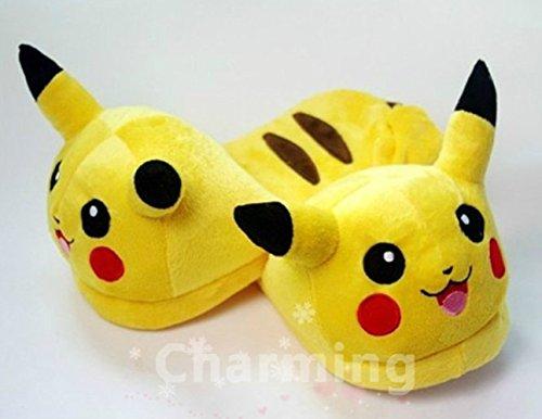 Pokemon Pikachu Figure Plush Slippers Home Decoration Yel...