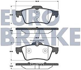 Eurobrake 5502222562/Bremsbel/äge
