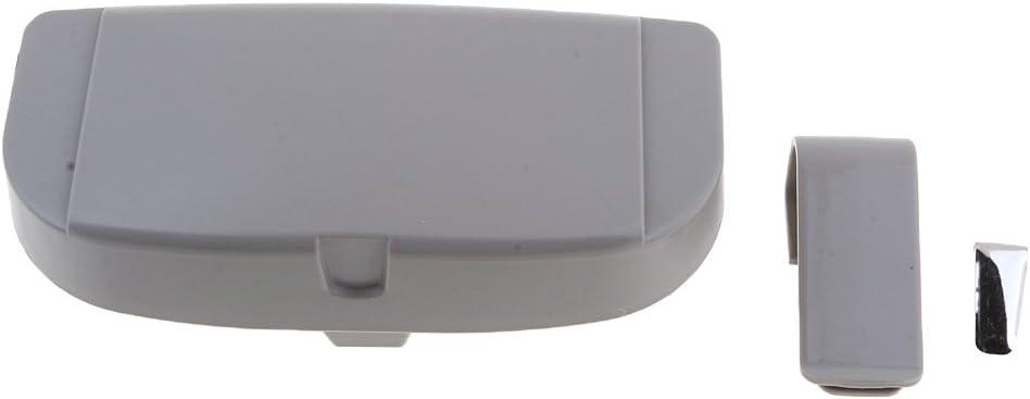 Homyl Car Visor Glasses Case Clip Organizer Box Sunglasses Holder White