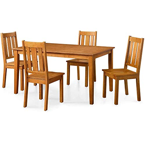 Better Homes and Gardens Bankston Rectangle Dining Table and Chair Set, 58.5