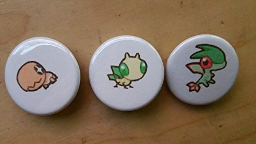 5x Pokemon Collectible 1'' inch Buttons - Trapinch Vibrava Flygon Evolution Set - Custom Made - Pin Back - Gift Party Favor by Legacy Pin Collection