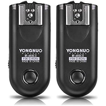 YONGNUO RF-603C-II-C3 Wireless Remote Flash Trigger Kit for Canon 1D 5D 7D 10D 20D 30D 40D 50D