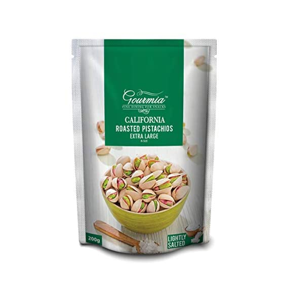 Gourmia California Roasted Pistachios Extra Large Lightly Salted 200g