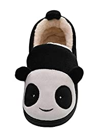 LIVEINU Kids/Toddlers Panda Winter Fuzzy Warm House Slippers Booties