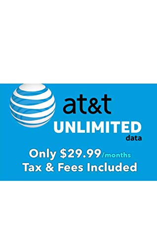 at&T Unlimited Data Sim - Unlimited 4G LTE Data for MiFi/Hotspot/ & Other at&T Supported Data Devices - Triple Cut sim fits All Data Devices 29.99 per Month