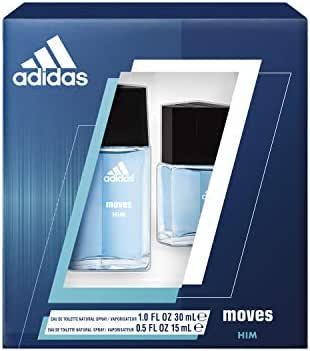 Adidas Fragrance Moves For Him 2-Piece Gift Set With 0.5-Ounce And 1-Ounce Eau De Toilette, 0.55997410000000003 Pounds