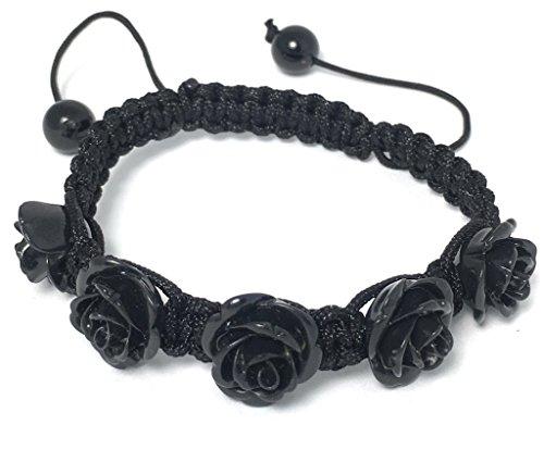 Alice Yan Jewelry Black Rose Bracelet Hypoallergenic Adjustable Size 7