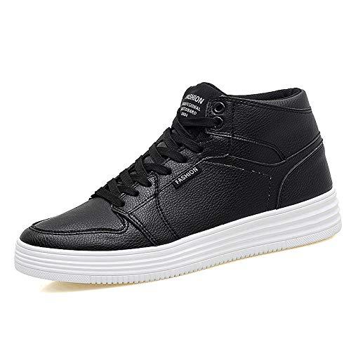 Hoesczs New Top Altos Thick Smooth Casual White Sports Women's Winter Heels Tacones Shoes Black High rwTqrx