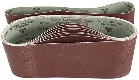- Sanding Belt mit 4-Inch X 24-Inch Aluminum Oxide Gasket, 600 Units 10Pcs
