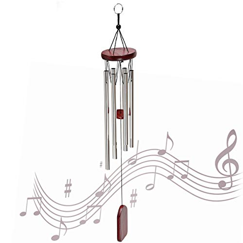 MOHOO Wind Chime, Wind Chime Amazing Grace Wind Chimes Bells 6 Metal Tubes Windchime for Garden, Yard, Patio, Home Decoration and Gift
