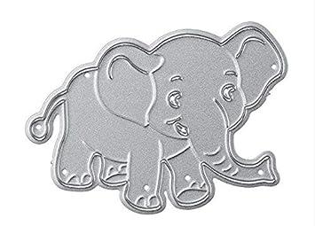 Op.h DIY Craft Elefante Navidad Álbum de corte de repujado Modelo Troquel de corte decoración para scrapbooking, tarjetas y manualidades: Amazon.es: Hogar