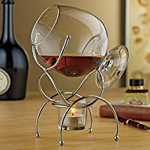 Wine Enthusiast 4 pièces Brandy Warmer Gift Set