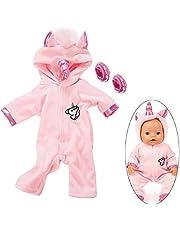 """Ouinne Uinicorn Kleding Outfits Poppenkleding Kostuum Jurken voor 17-18"""" Baby Poppen (Roze)"""