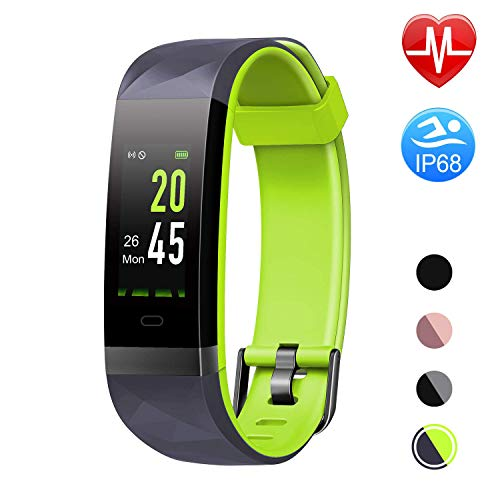 Letsfit Fitness Tracker Color Screen HR, Heart Rate Monitor Watch, IP68 Waterproof Activity Tracker, Step Counter, Bluetooth Sleep Monitor, 14 Sport Modes, Pedometer Watch for Men Women Kids