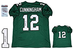 Randall Cunningham Signed Custom Jersey - JSA Witness - Autographed
