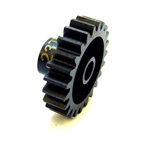 23 Tooth Gear - Hot Racing NSG23M1 23 Tooth Steel Mod 1 Pinion Gear 5mm