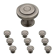 Franklin Brass P29526K-904-B, 1-1/4-Inch Geary Kitchen Cabinet Hardware Knob, Heirloom Silver, 10 pack