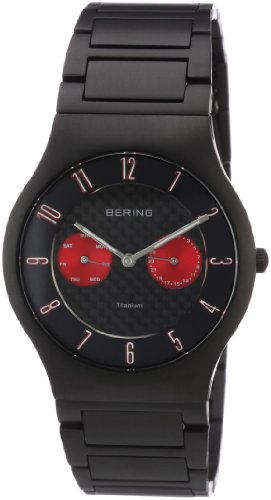 BERING Time 11939-729 Men's Classic Collection Watch with Titan Link Band and scratch resistant sapphire crystal. Designed in Denmark.