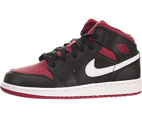 e672b36e9d59c9 Nike Jordan Kids Air Jordan 1 Mid Bg Black Gym Red White Basketball Shoe 7  Kids US - Buy Online in UAE.