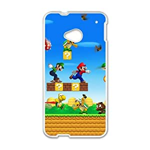 Game boy Super Mario Bros HTC One M7 Cell Phone Case White GYK2CC47