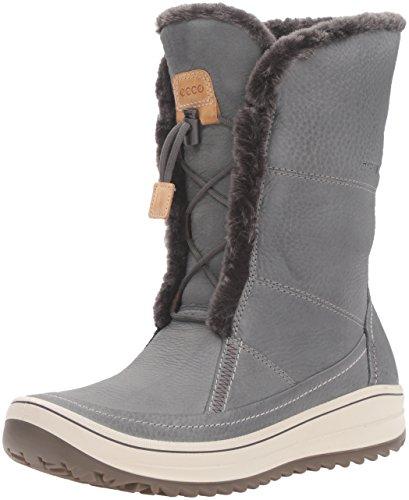Ecco Womens Trace Tie Hydromax Snow Boot Dark Shadow