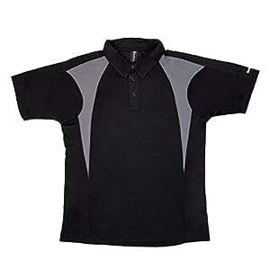 Mens Reebok ColorBlock Golf Polo Small Black/Gray