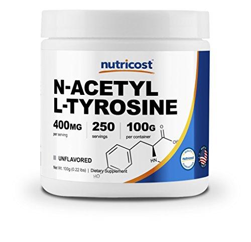 Nutricost Pure N-Acetyl L-Tyrosine (NALT) Powder 100 Grams by Nutricost