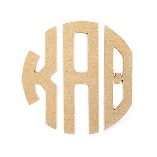 "Kappa Alpha Theta Sorority 8"" Round Wood Monogram Letter Set Officially Licensed ()"
