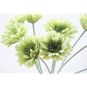 """Lemax Fake Gerbera Daisy Flowers Bouquets, 10 Pieces 21.6"""" Long Look Real Artificial Daisy Flowers Floral Bouquet for Decoration 44"""