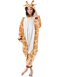 Giraffe Animal Onesie - Soft and Comfortable With Pockets! Fun As a Costume or Pajamas - For Men Women Teens Adults! 5% Of Sales Donated To San Diego Zoo Global Wildlife conservancy
