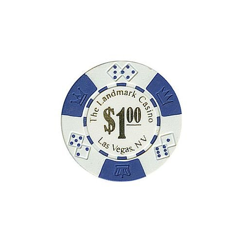 Trademark Poker Landmark Casino Lucky Crown 100 Poker Chips (1-Piece), (Landmark Casino Chip)