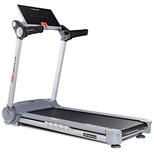 BeUniqueToday 2.05 HP Portable Folding Electric Fitness Home Gym Treadmill, Practical and Portable Folding Electric Fitness Home, Electric Fitness Home Gym Treadmill with Multi-Functional LCD Display