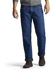 Lee Men's Fleece Lined Relaxed Fit Straight Leg Jean
