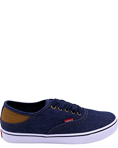 Levi's Men's Monterey Denim Buck Navy/Brown Casual Shoe 9 Men US