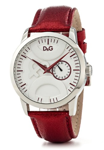 D&G Dolce & Gabbana Men's DW0701 Leather Synthetic with White Dial Watch