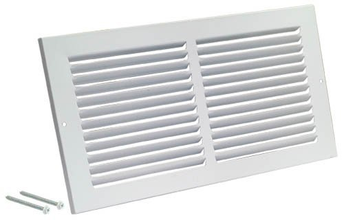 Rocky Mountain Goods Air Return Grille - Heavy Duty Steel with Premium Finish - Includes Full Installation kit - Louvered Design - Paintable Vent Cover - Matte White - Consistent air Flow (10