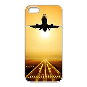 Airplane Shell Phone for iphone5s White Cover Phone Case [Pattern-3]