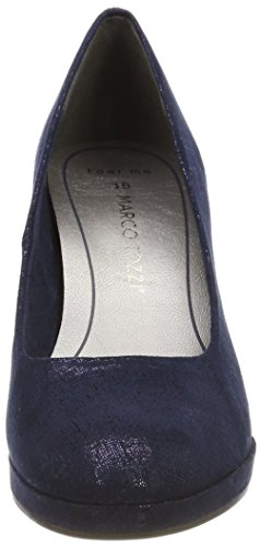 Marco Tozzi Women's 22404 Closed Toe Heels Blue (Navy Metallic 824) KvwXhmbVF