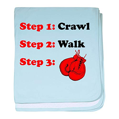 CafePress Crawl Walk Boxing Baby Blanket, Super Soft Newborn Swaddle