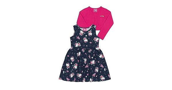 eceec3b689 Vestido E Bolero Bebê Cotton Hello Kitty  Amazon.com.br  Amazon Moda