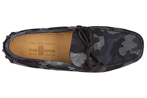 Car Shoe Mocasines EN Ante Hombres Nuevo Blu