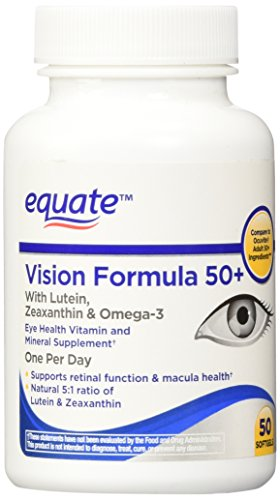 Equate Vision Formula 50+, 50ct, Compare to Ocuvite Adult 50+