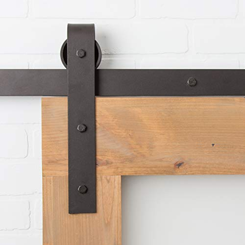 Artisan Hardware 6FT Barn Door Hardware Kit Oil Rubbed Bronze Classic |USA Made| Nylon Wheels | Pre Drilled Track |Ready to Ship|
